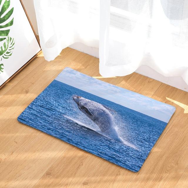 Whale Print Anti-Slip Rug 3