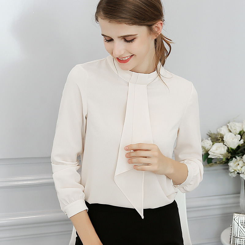 9c8c0d9f2be 2018 Women Office Shirts Tops Spring Summer Blouses Fashion Sweet Office  Plus Size Red Slim Blouse Long Sleeve Casual Shirt 2XL-in Blouses   Shirts  from ...