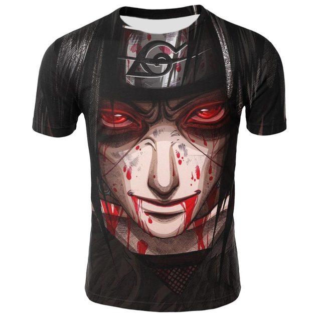 Summer shirt T-shirt 3D anime Naruto men and women print short-sleeved European and American high-quality short sleeve 1