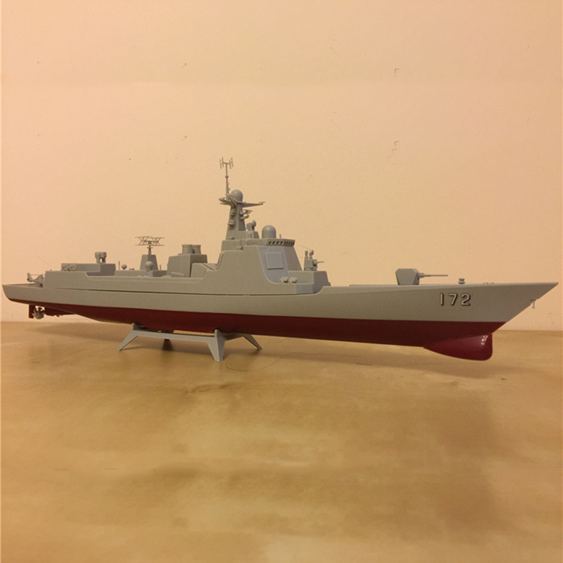 Купить с кэшбэком Free shipping Kunming Guided Missile Destroyer  Electric Assembly Model Gear Two Prop Powered Warship DIY Toy children gift navy