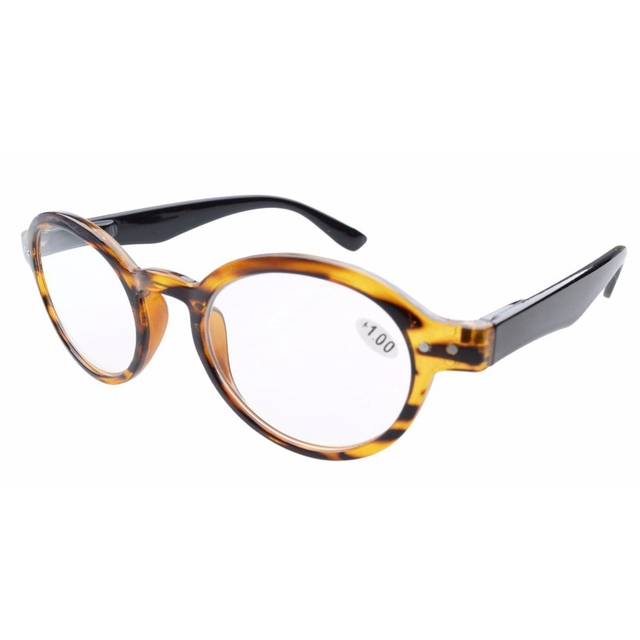 R070 Eyekepper Spring Hinges Round Retro Reading Glasses & Reading Sunglasses +0.00---+4.00