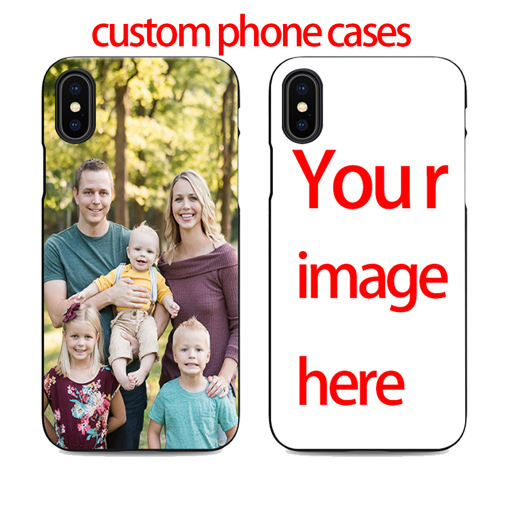 diy custom cell phone case design your own for iPhone X XR 6 7 8 plus 5 5s 6s se create phone case with photos best black cover(China)