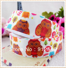 7/8» (22mm) Owl printed Grosgrain ribbon Polyester cartoon Ribbon haribow accessory gift pack,MD12449