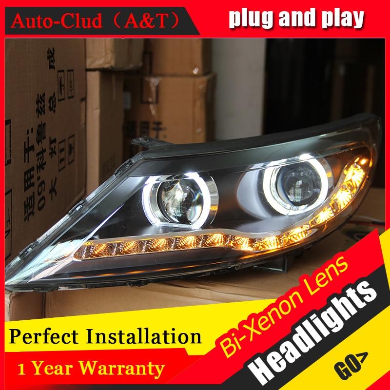 Auto Clud Car Styling for Kia Sportage Headlights Sportage LED Headlight Lens Double Beam H7 HID Xenon bi xenon lens стоимость