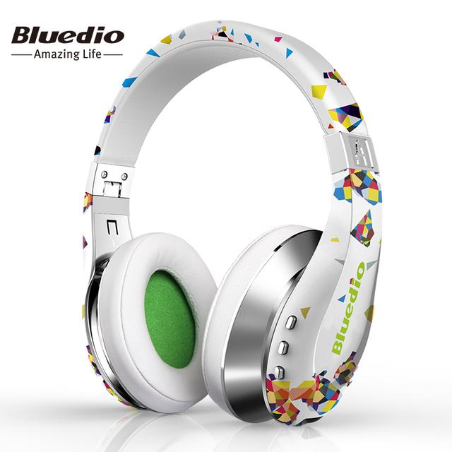 Bluedio a (aire) moda auriculares inalámbricos bluetooth con micrófono, HD Membrana, Twistable Diadema, Sonido Envolvente 3D