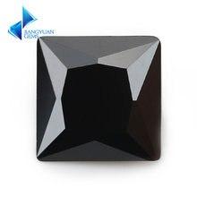 Размер 15 х1 5 ~ 12 х12 мм квадратная форма принцесса 5a черный