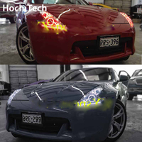 For Nissan 370Z RGB LED Headlight Halo Angel Eyes Kit Car Styling Accessories2009 2010 2011 2012
