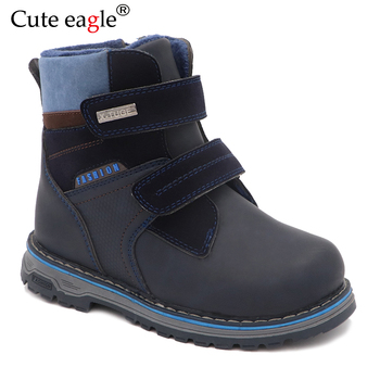 Winter Boots For Boys Felt Little Kids Woolen Plush Warm Snow Waterproof Martin  EU Size 22-27
