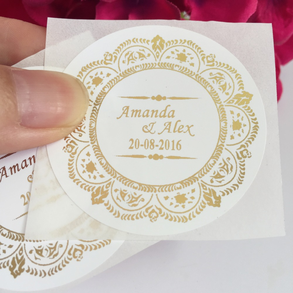 90 Pcs Vintage Wedding Decoration Personalized Stickers
