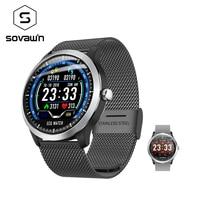 Sovawin SH N58 Smart Watch Waterproof Men Blood Pressure Sport Smart Watch Bluetooth Heart Rate Tracker for Xiaomi for Samsung