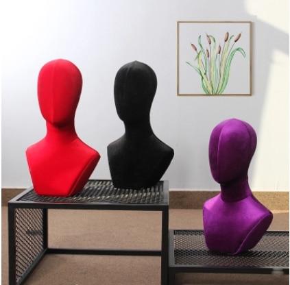 Mannequin de tête de tissu de modèle de tête de tissu de haute qualité de Style à la mode en vente