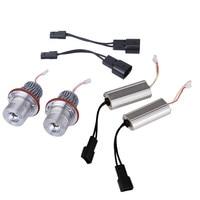 2Pcs 10W Led Angel Eyes For BMW E39 6500K White LED Light Lamp Bulb For BMW