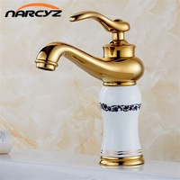Royal Style Solid Brass Grilled White Painted Porcelain Basin Mixer Taps Deck Mounted Sink Faucet XT601