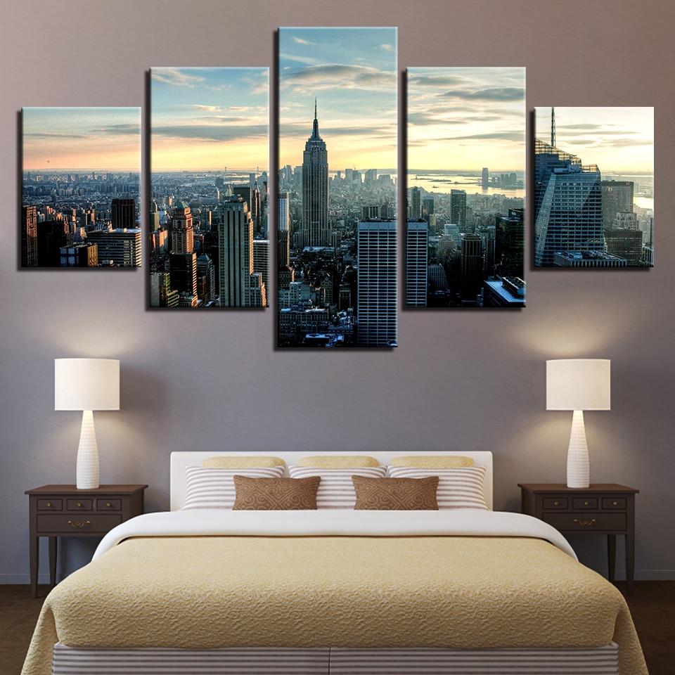 Aliexpress Com Buy 3 Pieces Wall Art New York City: Aliexpress.com : Buy Modular Wall Art Canvas Paintings