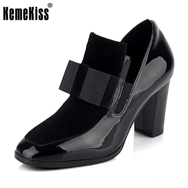 KemeKiss Women Genuine Leather High Heel Boots bowknot Winter Ankle Boots Footwear ladies high heels Shoes R4549 Size 34-43 odeon light потолочный светильник odeon light kanti 3483 2c