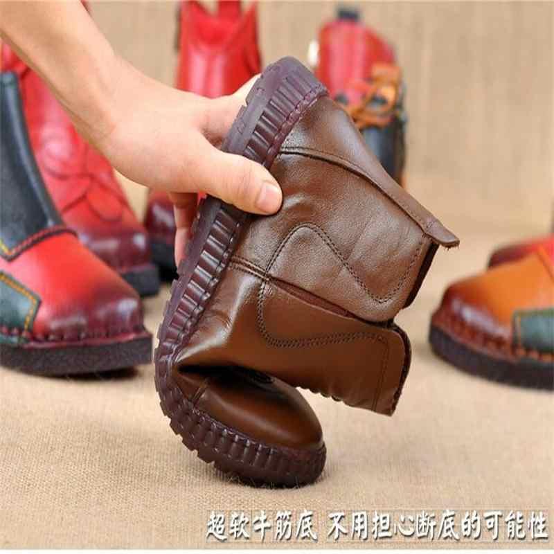 Moda Kış Artı Kadife Deri anne ayakkabısı Kadın Çizmeler Yuvarlak Kafa Kalın Alt Deri Su Geçirmez Woma Şövalye Çizmeler 35-43