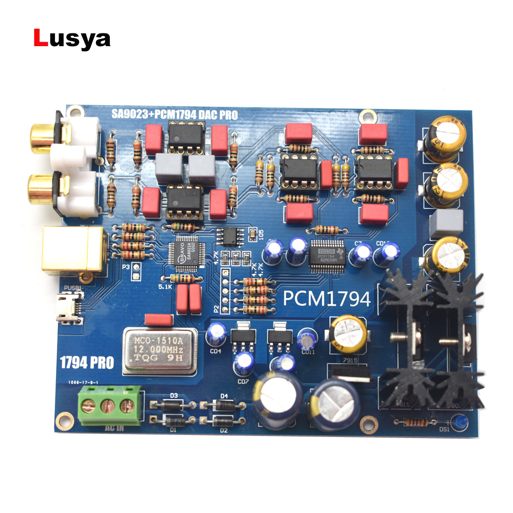 SA9023 PCM1794 DAC decoder board USB DAC sound card 5V DIY finished board B8 004