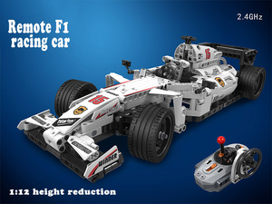 Image 2 - MOC F1 Racing RC Car Remote Control 2.4GHz Technic with Motor Box 729pcs Building Blocks Brick Creator Toys for Children gifts