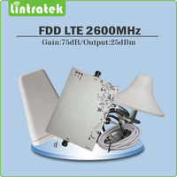 Усиления 75db agc/MGC 4 г LTE 2600 мГц усилитель сигнала 4 г LTE 2600 мГц (FDD диапазона 7) сотовый телефон повторитель полный набор с Телевизионные антенны и