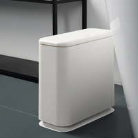 Plastic Trash Can Pressing Type Garbage Bin Waste Rubbish Dustbin For Home Trash Can Waste Bins Household Cleaning