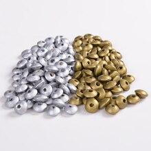 DIY Деревянные плоские круглые свободные бусины разделители амулеты ювелирные изделия 12*5 мм серебро и золото цвета детские деревянные бусы 100 шт./лот Whsle