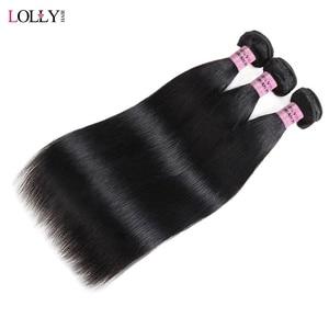 Mechones de pelo liso Lolly mechones de pelo peruano mechones 100% extensiones de cabello humano de doble trama no Remy envío gratis
