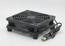 Охлаждающий вентилятор для usb маршрутизатора, кулер для ПК DIY, ТВ приставка, беспроводной тихий вентилятор постоянного тока 5 В с питанием от USB 120 мм 120x25 мм 12 см с винтами, защитная сетка