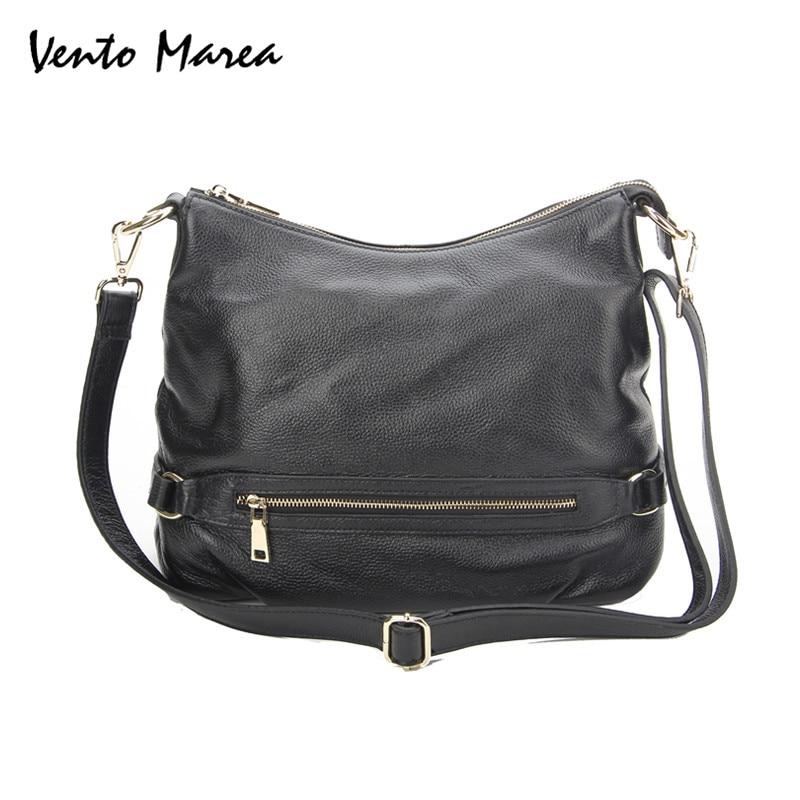 Bags For Women Leather Genuine Woman Totes Bag Zipper Soft Shoulder Bag Black & Brown Female Ladies Hand Bags Promotion promotion women