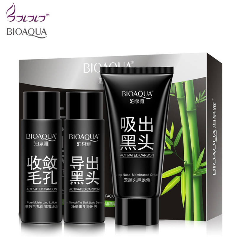 Tzone Blackhead Removal Activated Carbon 3 Steps Nose Mask Skin care Set  Deep Cleansing purifying peel acne black mud face mask