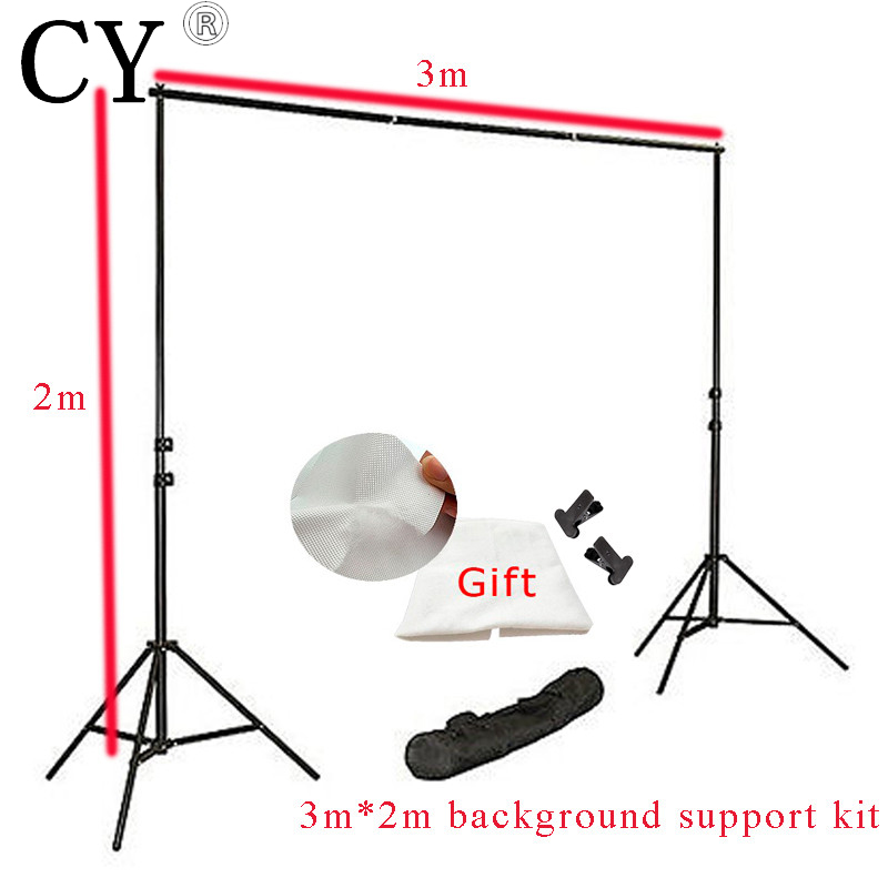 3m x 2m Photo Studio Background Support Backgroud Stand Kits with Free Backdrop PSBS2 inno new arrive photo studio background support 3m x 2m backgroud stand kits with free backdrop high quality hot sale psbs2