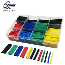 530PCS Heat Shrink Tubing Insulation Shrinkable Tube Assortment Electronic Polyolefin Wire Cable Sleeve Kit Heat Shrink Tube 12mm dia polyolefin heat shrinkable tube shrink tubing wire wrap 10m 33ft green