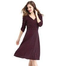 HSPL Women  summer Dress Rockabilly Business Office Work Swing  Evening Party Wrap  Dresses 2017 Deep  V Neck Lady Sexy  Dress