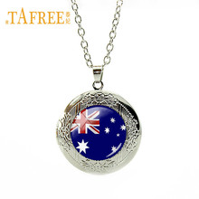 TAFREE Fashion 26 National Flag Necklace Australia,Bangladesh,Albania,Andorra,Bhutan Flag Locket Pendant Necklace FG08(China)