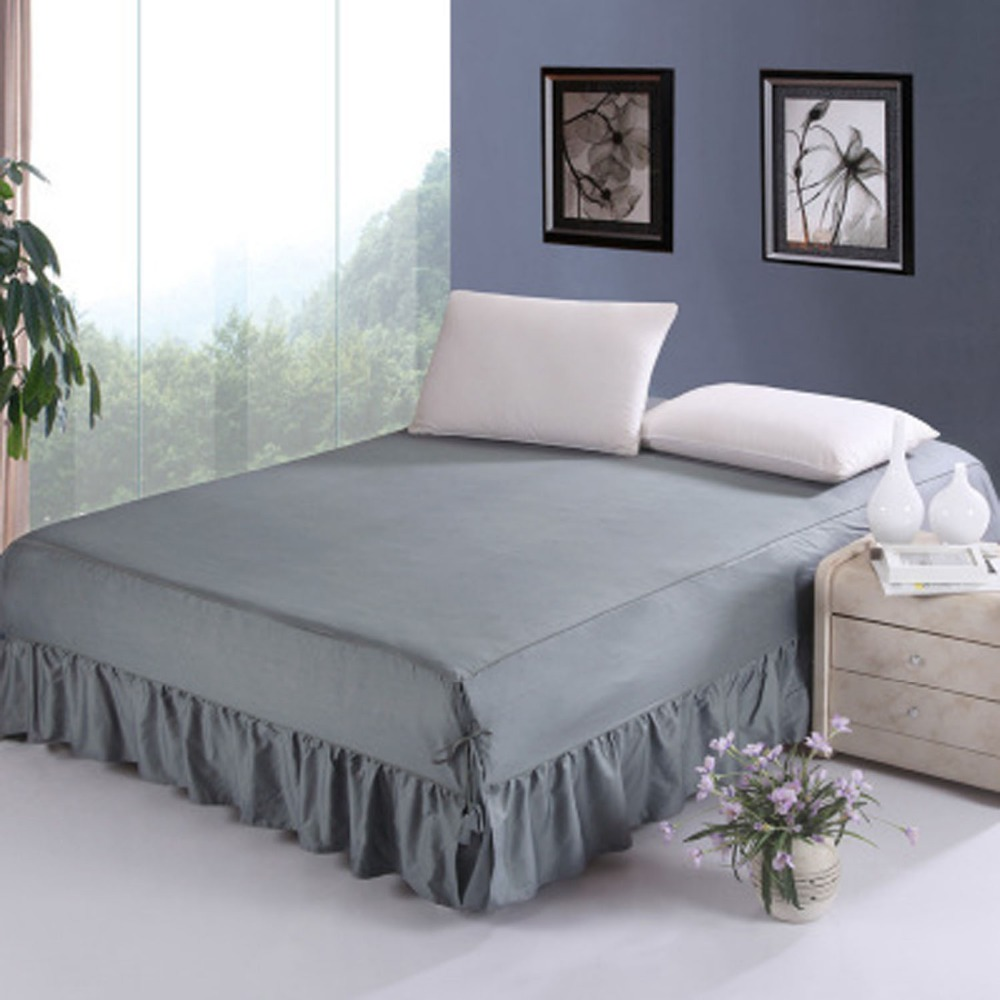 100% cotton Bedding Set 5 colors Bed Skirt Bedspreads Mattress Protective Cover Anti slip Bed Skirt Fitted bed and bedspread