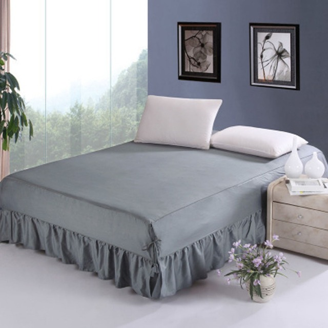 Bedspreads.Us 36 99 100 Cotton Bedding Set 5 Colors Bed Skirt Bedspreads Mattress Protective Cover Anti Slip Bed Skirt Fitted Bed And Bedspread In Bed Skirt