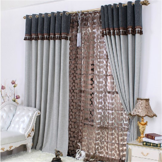 Free Shipping Home Design Curtain Design Exquisite Jacquard Thread Curtain  New Classical Luxury Curtain Blind Window
