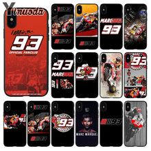 Yinuoda toalha marc marquez MM 93 Custom Photo Soft Phone Case for Apple iPhone 8 7 6 6S Plus X XS MAX 5 5S SE XR Cellphones