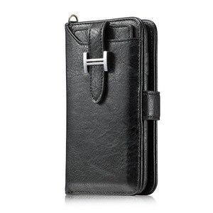 Image 2 - Haissky יוקרה Flip עור מקרה עבור iPhone 6 7 8 X ארנק Flip מקרה עבור iPhone 6 7 8 בתוספת כרטיס חריצי טלפון כיסוי Coque קאפה
