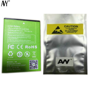AVY Battery For XGODY X6 5.0inch Mobile Phone Rechargeable Li-ion 2500mAh Batteries 2pcs lq s1 battery for smart watch dz09 w8 a1 t8 x6 qw09 v8 x6 dj 09 battery lq s1 3 7v 380mah li po rechargeable battery cells