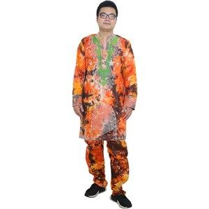 Image 2 - MD vêtements africains pour hommes, bazin riche, robes africaines pour hommes, chemises, haut, pantalon, costume dashiki africain, vêtements pour hommes