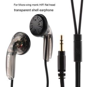 Image 2 - Спортивные наушники OLLIVAN с плоской головкой, наушники вкладыши VE Monk Plus, стереогарнитура с басами для Iphone, XiaoMi, Samsung, Huawei, всех телефонов