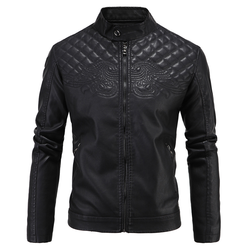 2017 New Brand Plus Size Leather Jacket Men Winter British Mens ...