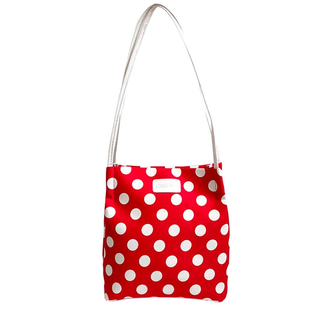 Canvas White Wave Point Fashion ladies Shoulder Bags Bag Purse Women s  Crossbody Mini Messenger Bag  xqx ee8d6d369