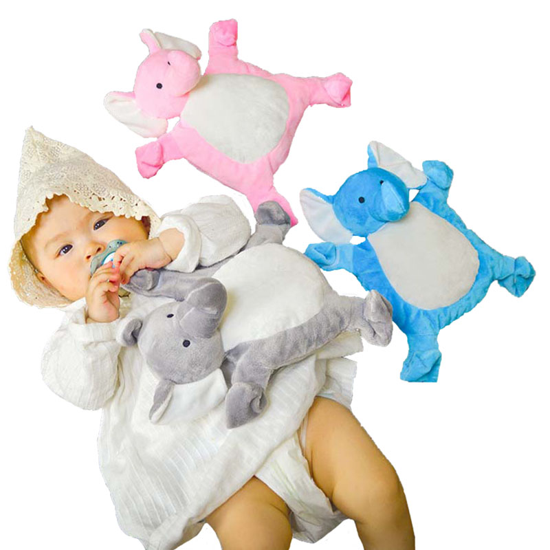 Newborn Cartoon Appease Towel Baby Plush Pacifier Doll Chupeta Baby Lovely Elephant Toys Pacifier Nipples Appease Towel I0060