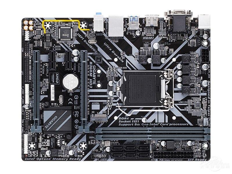 Carte mère de bureau nouvelle Gigabyte B360M HD3 original LGA 1151 DDR4 B360 bureau e-sports jeu cartes mères d'ordinateur