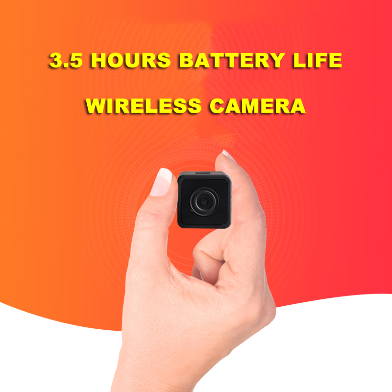 Dingfentech Mini Camera WiFi Rechargeable Battery Powered espia Camcorder Smallest Micro WiFi Camera 1080P Full HD Secret Espion