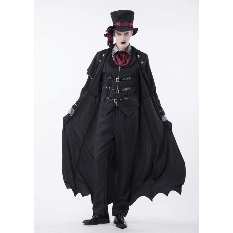 2018 Новый высокое качество мужской на Хэллоуин для взрослых вампиров играть Косплэй Ужасы костюм пара Earl Grey мужской костюм Play джентльмен