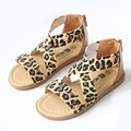 Kids Girls Leopard Sandals 2017 Summer Rhinestone Children Gladiator Shoes Infant Girl Becah Shoes Summer Footwear Nina Sandalia