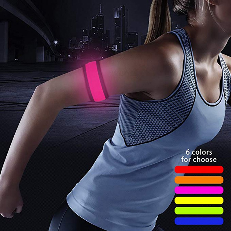 1 Pcs Running Light Sports LED Wristbands Adjustable Glowing Bracelets For Runners Riding Safety Outdoor Fitness Equipment