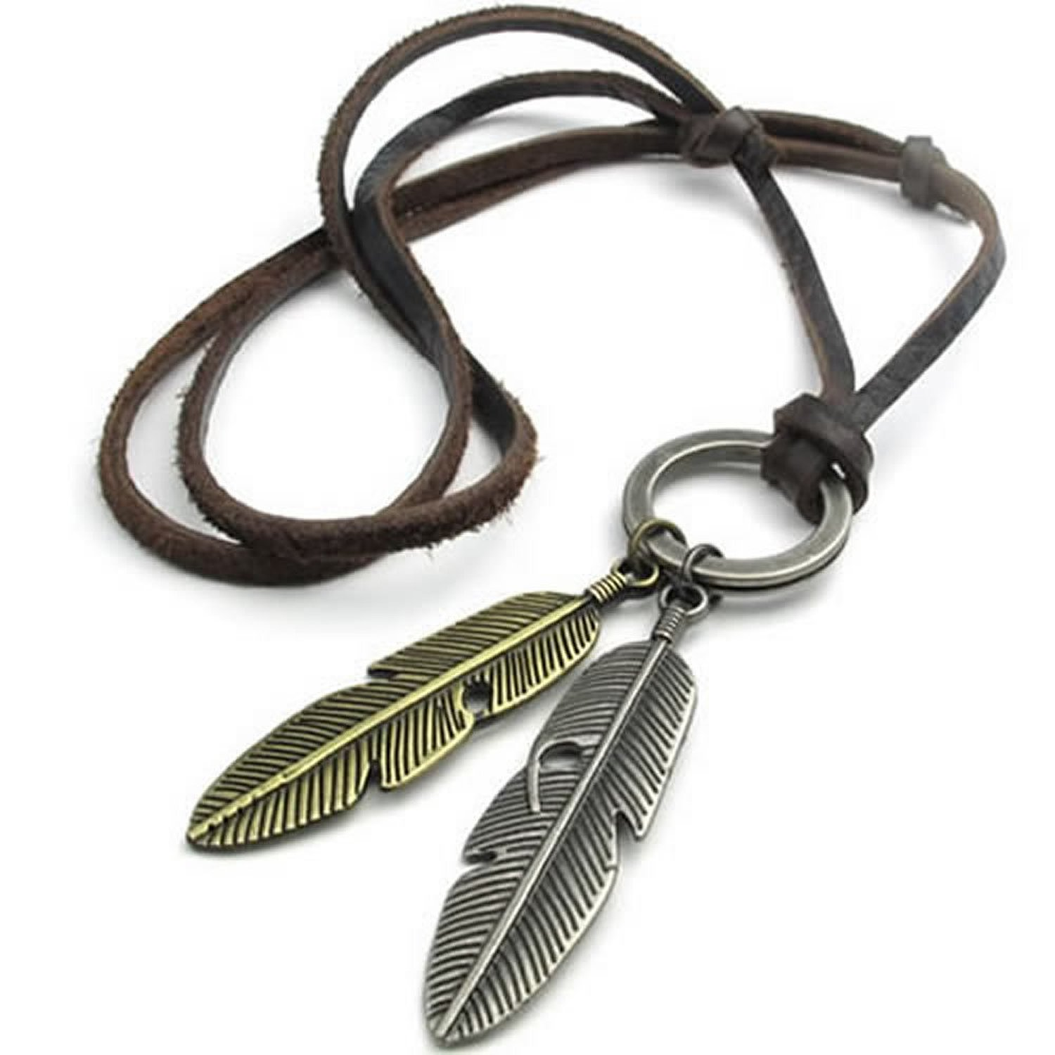 font b Jewelry b font Men s Ladies Necklace Angel Spring Pendant with Leather Necklace